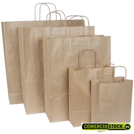 Laid kraft paper bags twisted handle