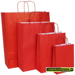 Twisted handle paper bags red