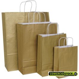 Gold twisted handle paper bags