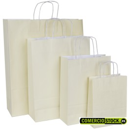 Black twisted handle paper bags