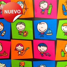 Papel de regalo infantil DX-7001
